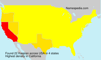 Surname Kaspian in USA