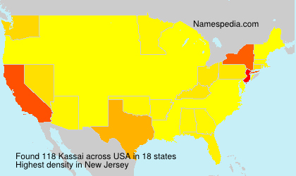 Surname Kassai in USA