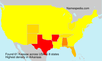 Surname Kassaw in USA