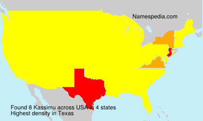 Surname Kassimu in USA