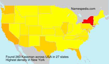 Surname Kassman in USA