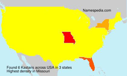 Surname Kastaris in USA