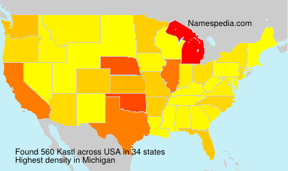 Surname Kastl in USA