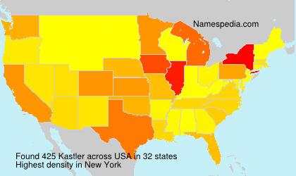 Surname Kastler in USA