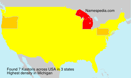 Familiennamen Kastoris - USA