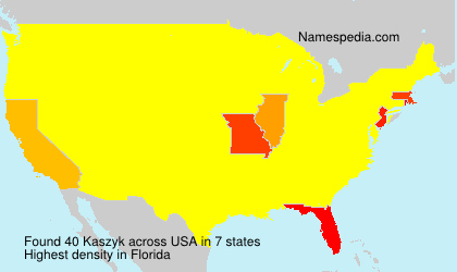Surname Kaszyk in USA