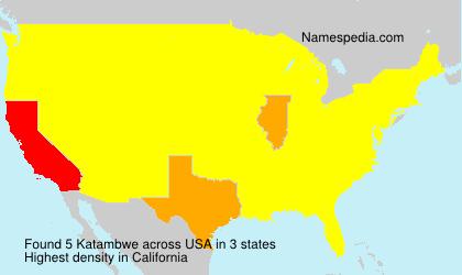 Surname Katambwe in USA