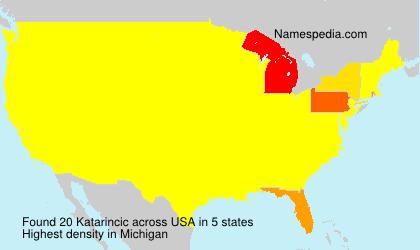 Surname Katarincic in USA