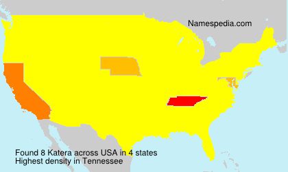 Surname Katera in USA
