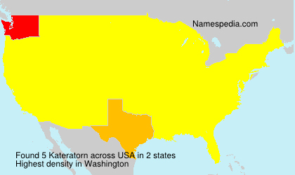 Surname Kateratorn in USA
