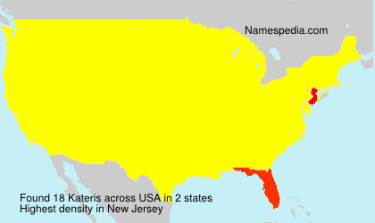 Surname Kateris in USA