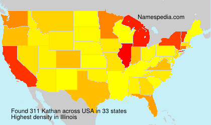 Surname Kathan in USA