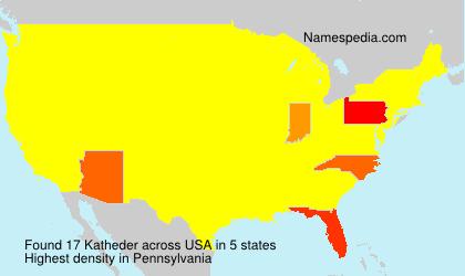 Familiennamen Katheder - USA