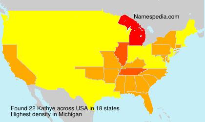 Familiennamen Kathye - USA