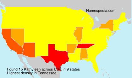 Surname Kathyleen in USA