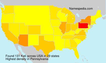 Familiennamen Kati - USA