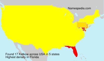Surname Katkow in USA