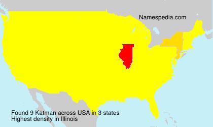 Familiennamen Katman - USA