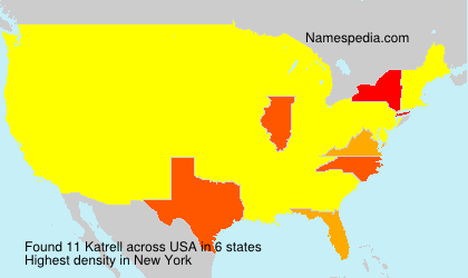 Surname Katrell in USA