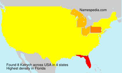 Surname Katrych in USA