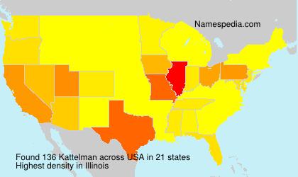 Surname Kattelman in USA