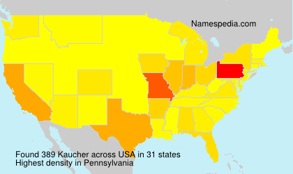 Surname Kaucher in USA