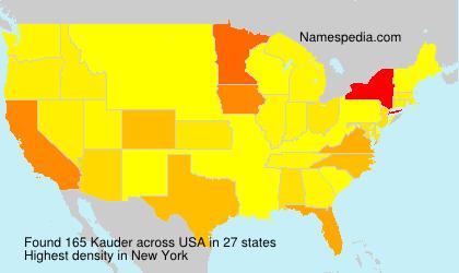 Surname Kauder in USA