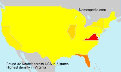 Surname Kaufelt in USA