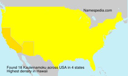 Surname Kauleinamoku in USA