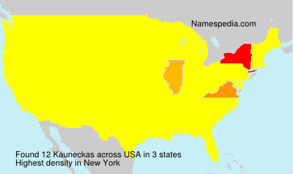 Surname Kauneckas in USA