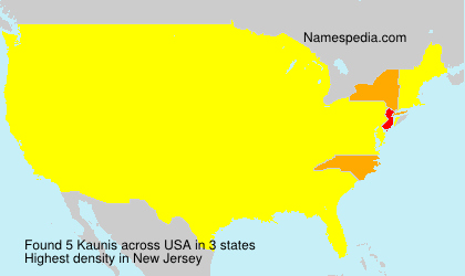 Surname Kaunis in USA