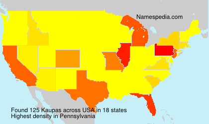 Familiennamen Kaupas - USA