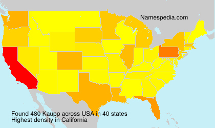 Surname Kaupp in USA