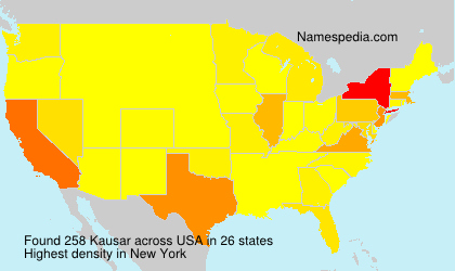 Surname Kausar in USA