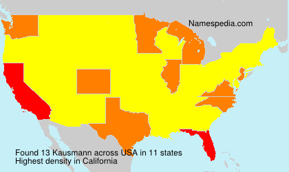 Surname Kausmann in USA