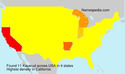 Surname Kausrud in USA