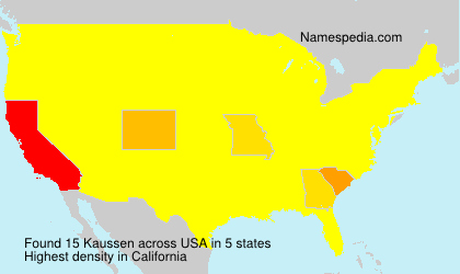 Surname Kaussen in USA