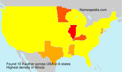 Surname Kauther in USA