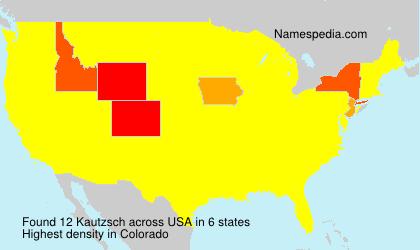 Surname Kautzsch in USA