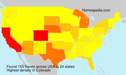 Surname Kaven in USA