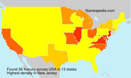 Surname Kavuru in USA