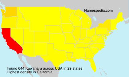 Surname Kawahara in USA
