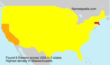 Familiennamen Kawere - USA
