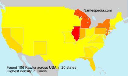 Familiennamen Kawka - USA