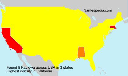 Familiennamen Kayigwa - USA
