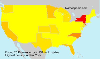 Surname Kaynan in USA