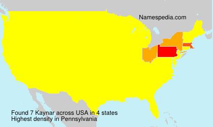 Surname Kaynar in USA
