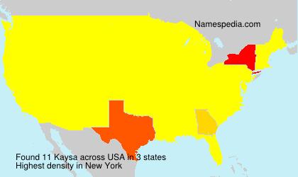 Surname Kaysa in USA