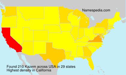 Surname Kazem in USA
