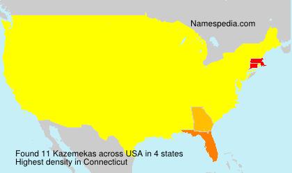 Familiennamen Kazemekas - USA